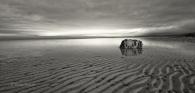 Fels-rock-stein-stone-Sand-ripple-rippen-strukturen-kueste-coast-Landschaft-landscape-Minimalismus-minimalistisch-minimalistic-black-white-schwarz-weiss-Irland-A-Sony_DSC2468a-sw